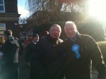 Mike Head and Howard Jones on the campaign trail.